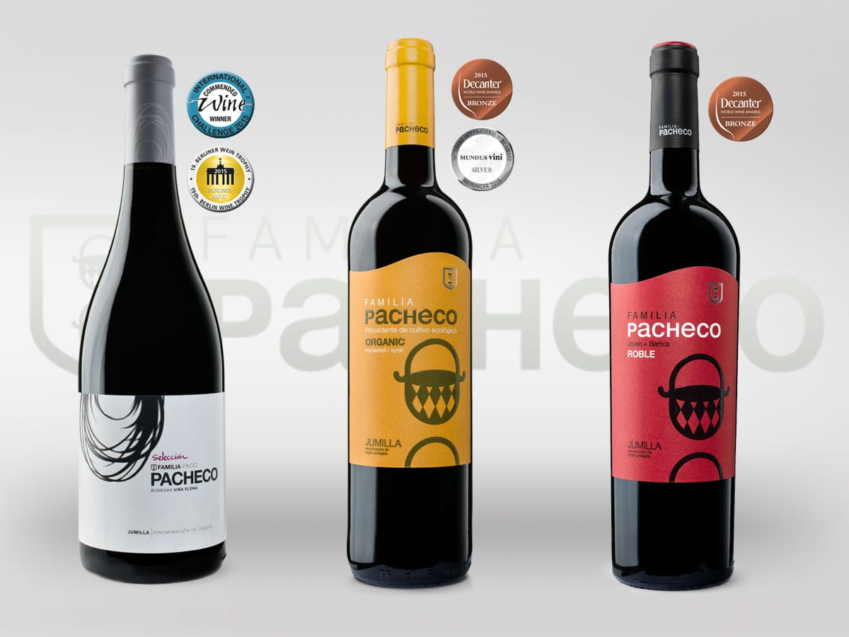 Premios vinos 2015 Familia Pacheco